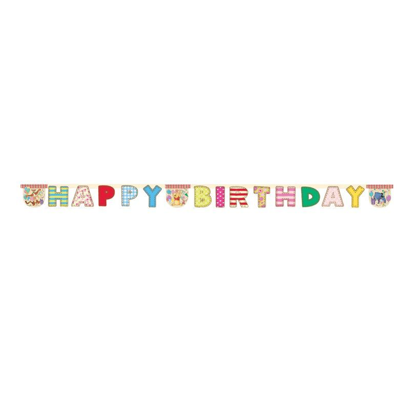 Winnie Alphabet ''Happy Birthday'' Banner